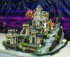 Halloween Village Display / Dept. 56 Halloween Display / Grimsly Estate