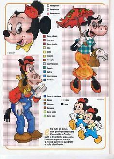 Clarabelle Cow and Horace Horsecollar cross stitch patterns