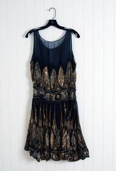 Awesome black, gold, and silver dress