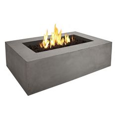 Real Flame Baltic Rectangle Fire Pit Table- Glacier Gray : Target
