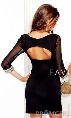 Short Long-Sleeved Black Dress