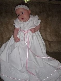 Infant Girls Christening/Blessing Gown by Emke on Etsy, $69.99