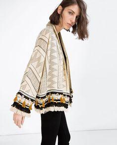Stylish Clothes For Women, Coats For Women, Gilet Kimono, Zara, Boho Outfits, Fashion Outfits, Iranian Women Fashion, Dress Neck Designs, Mode Boho