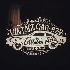 S.Lenzi Traditional Signs - : Illustration Vintage Car Bazar