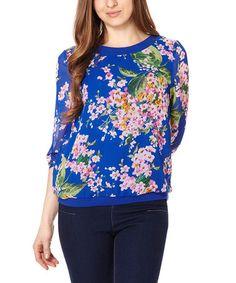 Love this Sapphire Floral Bahamas Sweatshirt on #zulily! #zulilyfinds