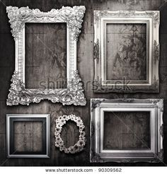 vintage ornate frame collage florence gold french provincial shabby chic shabby french and layering