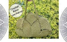 Crochet Bolso con Circulo con Patron Iris, Straw Bag, Diy And Crafts, Burlap, Reusable Tote Bags, Pin Pin, Slippers Crochet, Crochet Poncho, Needlepoint