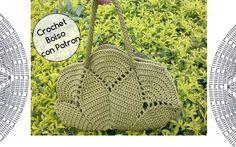 Crochet Bolso con Circulo con Patron