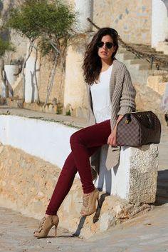 Outfit con botines cafés o marrones inspiración  fc6e92457e38