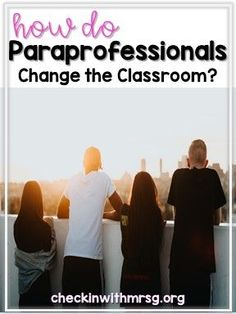 Special education paraprofessionals are an invaluable part of the classroom. Also called special education instruction assistants or paraeducators. Learn what is a paraprofessional and what a paraprofessional does in the classroom! Life Skills Classroom, Classroom Routines, Teaching Social Skills, Special Education Classroom, Autism Classroom, Educational Assistant, Teachers Aide, Teacher Resources, Classroom Resources
