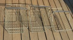 Three Wire Grocery Cart Baskets by PortlandiaRevibe on Etsy