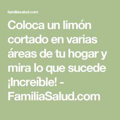 Coloca un limón cortado en varias áreas de tu hogar y mira lo que sucede ¡Increíble! - FamiliaSalud.com
