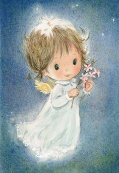 Joanna Christmas Card from Australia Australian Wax Flowers Angel Illustration, Cute Illustration, Christmas Angels, Christmas Art, Angel Drawing, Ange Demon, Angel Pictures, Angels Among Us, Angel Cards