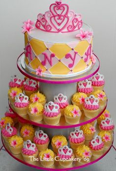 Princess Cupcake Tower for Anya! by TheLittleCupcakery, via Flickr