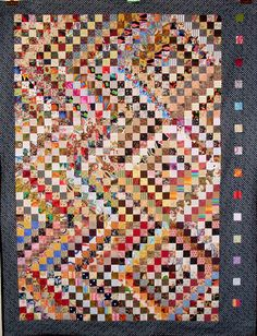alfineteoficinaderetalhos:  T-Shimmer by Linda Rotz Miller Quilts & Quilt Tops on Flickr.