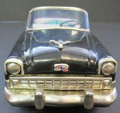 1956 Chevrolet Convertible tin friction car by FGustavStudio on Etsy