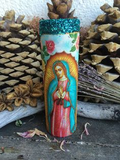 Rita's Lady of Guadalupe Ritual Hoodoo 7 Day Candle - Insight, Protection, Miracles, Work, Inspiration