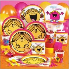 Mr Men and little Miss party supplies Mr Men and Little Miss cakes party kids boys girls birthday cupcake popcake cookies Sunshine Birthday Parties, 1st Birthday Party Themes, Kids Party Themes, Man Birthday, Birthday Ideas, Party Ideas, Kid Parties, Third Birthday, Birthday Party Invitations