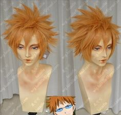 Fairy Tail / Loki / Leo Leo Alice turned orange tea / Fluffy cosplay wig #New #FullWig