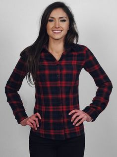 Blakely Clothing Co - Womens Clothing > Sweatshirts > The Plaid Red