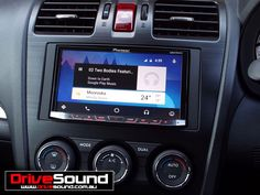 Subaru Forester with Android Auto installed by DriveSound. Google Play Music, Android Auto, Subaru Forester, User Interface