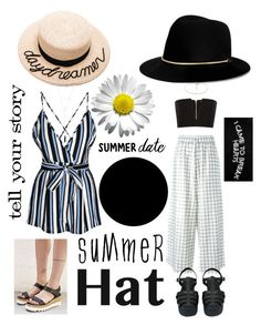 """""""Two types"""" by miaballesteros-1 on Polyvore featuring Eugenia Kim, Janessa Leone, Off-White, Glamorous, Chanel, Balmain, Manolo Blahnik, Natalie B and summerhat"""