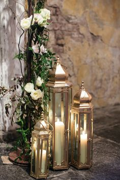Pillar Candle Lanterns | photography by http://www.greergphotography.com/