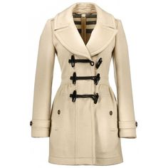 Burberry Coat (3,775 GTQ) ❤ liked on Polyvore featuring outerwear, coats, jackets, casacos, double breasted woolen coat, burberry coat, double breasted wool coat, short wool coat and brown coat