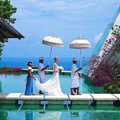 Tirtha Bridal Uluwatu, A Magical Wedding Location in Bali Exotic Wedding, Private Wedding, Bali Wedding, Magical Wedding, Destination Wedding, Dream Wedding, Pool Wedding, Wedding Bride, Perfect Wedding
