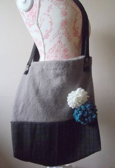 Upcycled felted sweater bag by Rowenberrystitches on Etsy, £15.00