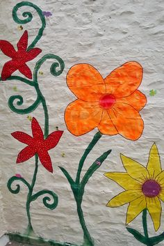 Large painted flowers