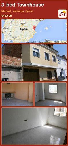 3-bed Townhouse in Manuel, Valencia, Spain ►€41,100 #PropertyForSaleInSpain