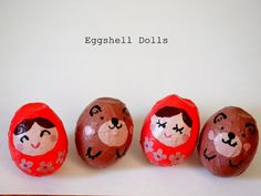 Make Eggshell Dolls (or just get some inspiration for painting those Easter eggs)