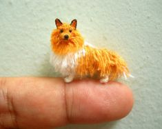 Rough Collie – Tiny Crochet Miniature Dog Stuffed Animals – Made To Order - Stofftiere Stuffed Animals, Rough Collie, Crochet Animals, Crochet Toys, Crochet Buttons, Felt Animals, Miniature Dogs, Mini Dogs, Tiny Dolls