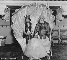 In 1922 Mary Catherine Campbell (as Miss Columbus) wins the Miss America title at Atlantic City, with Hudson Maxim as Neptune
