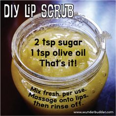 Easiest #DIY lip scrub, ever. Click through for the Lip Care Guide, Part II of III.