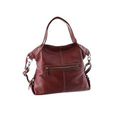 Ready to ship.  This genuine burgundy leather Gonpub bag by Artoncrafts is a soft satchel design that can be worn in various possible ways, hand carry as a handbag, shoulder bag, cross body or even messenger style.   Thia large handbag / tote is handcrafted from beautiful butter soft leather. Large enough for books, Ipad, tablet and other necessities.  This modern style bag is perfect for your daily use with top zipper closure to secure your belongings.  Measurement : Height 14 Width 14.5…