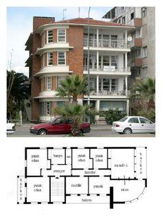 Geçmişin Modern Mimarlığı - 5: İzmir Urban Ideas, Travelogue, Art And Architecture, House Plans, Multi Story Building, Floor Plans, Modern, History, Ankara