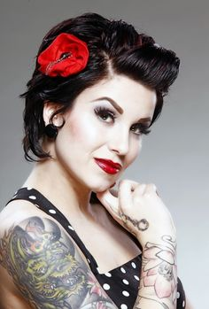 glam rock is inspired by the pin up rockabilly trend from the 1950 s ...290 x 430 | 99.1KB | www.beautylaunchpad.com