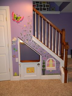 playhouses under the stairs, Cool Indoor Playhouse Ideas for Kids, http://hative.com/cool-indoor-playhouse-ideas-for-kids/,