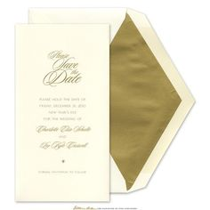 Tri-fold Save the Date - William Arthur (
