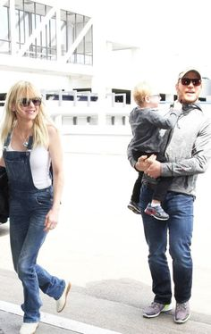 Chris Pratt and Anna Faris are seen at LAX on May 17, 2016 in Los Angeles, California.