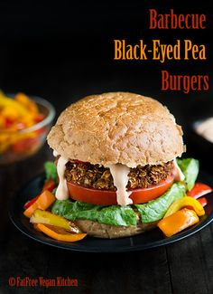 Vegan BBQ Blackeyed Pea Burgers