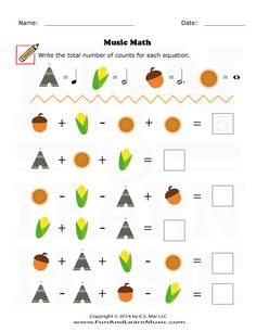 Thanksgiving - Music Math - SproutBeat