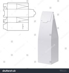 Illustration of Gift Die Cut craft Box for Design, Website, Background, Banner. Folding package vine bottle Template. Clear Fold alcohol pack with die line for your brand on it. White Mockup