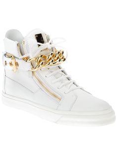 Giuseppe Zanotti Design Chain Detail Hi-top Sneakers - Biondini Paris - Farfetch.com