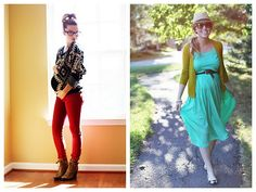 pregnant fashion - cute dress on the right