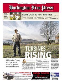 Today's Free Press front page www.burlingtonfreepress.com