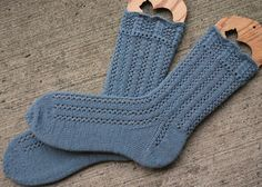 Dolphin Lace Socks by JanKnit