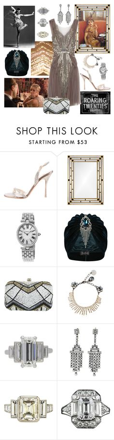"""Roaring twenties"" by sophier on Polyvore featuring Gatsby, Jimmy Choo, Mirror Image Home, Frédérique Constant, The Future Heirlooms Boutique, Miss Selfridge and Anton Heunis"